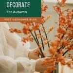 Autumn color decorating ideas