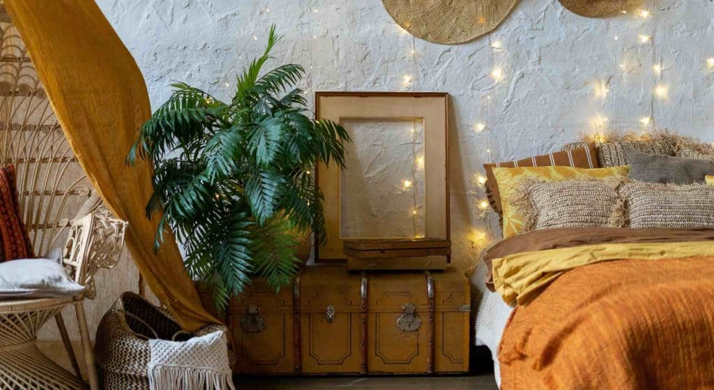 Boho decorating on a budget with thrift store finds