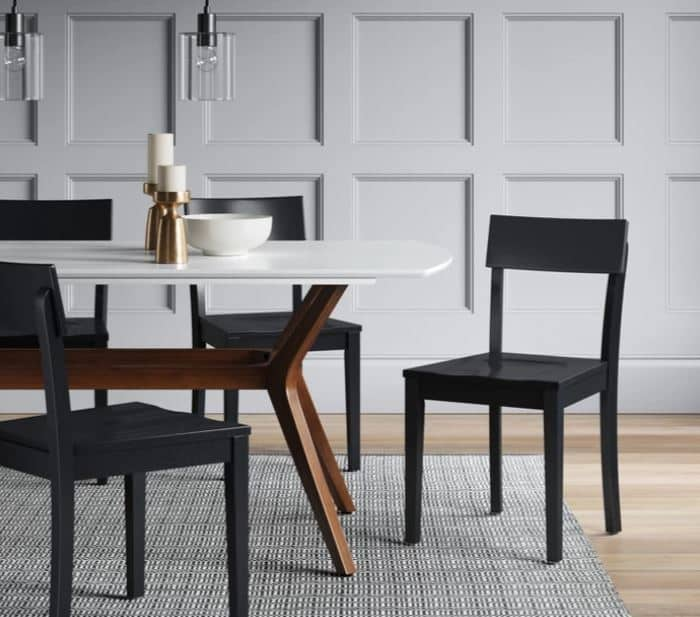 Clean line dining chairs