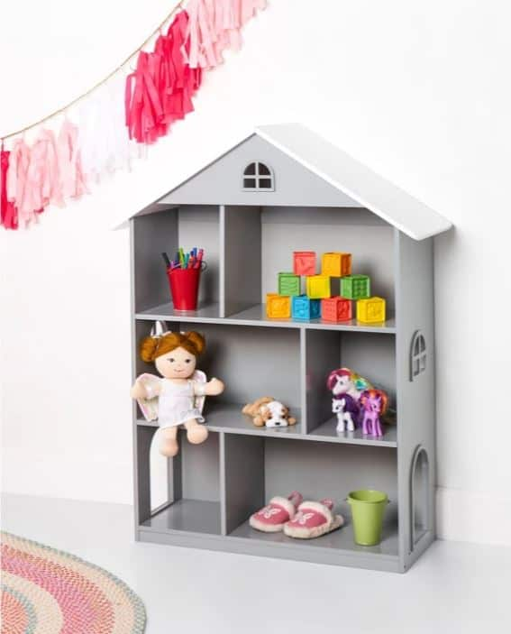 dollhouse bookcase decorate for kids