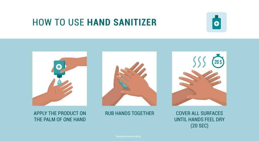 How to use DIY hand sanitizer