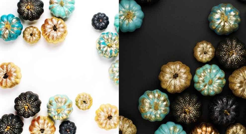 Glitter Paint Pumpkin Ideas