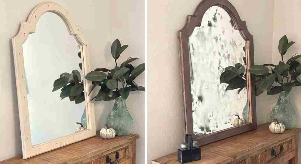 How To Antique A Mirror With Bleach