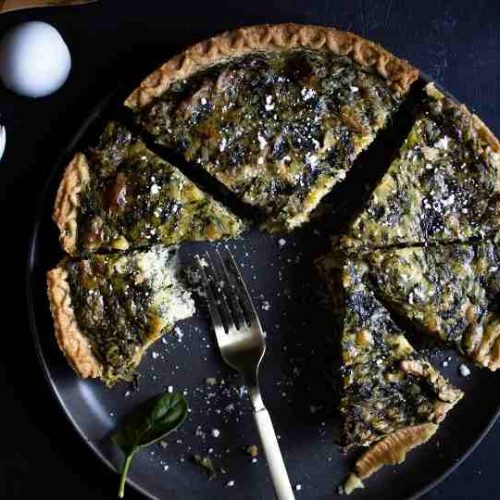 The Easiest and Quickest Spinach Quiche Ever